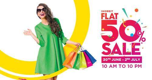 e6e1bfea The Flat 50% off Sale at Inorbit Mall Whitefield 30th June - 2nd July 2017