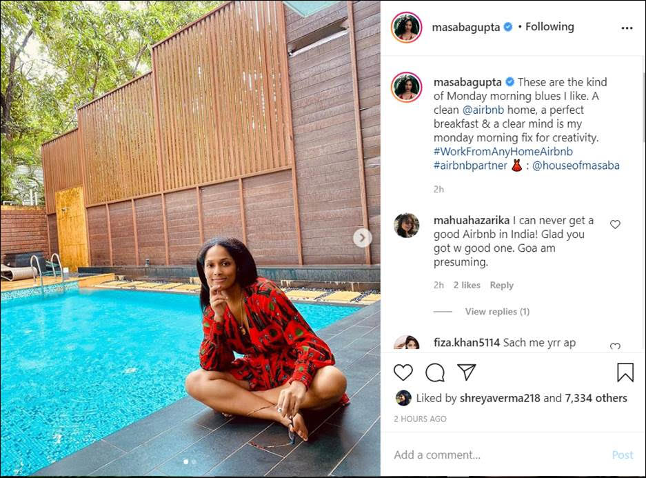 Masaba Gupta Adds An Airbnb Twist To Working From Home