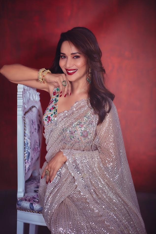 Madhuri Dixit sparkles in Rimple Harpreet Narula's saree
