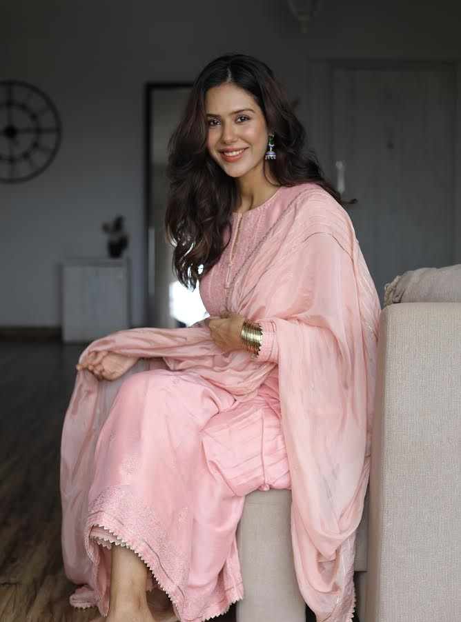 Sonam Bajwa in Collaboration with Label Varsha