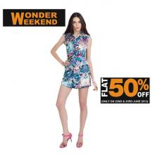 Wonder Weekend - Flat 50% off on selected merchandise on 22 & 23 June 2013 at Kazo