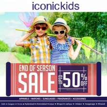 The Iconickids End of season sale is open..!! Your favorite brands with discounts upto 50%* ... Hurry up..!! Grab your favorite clothes and accessories.