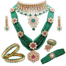 Mughal Garden- 32nd Anniversary Collection by ANMOL Crafted in 18K Gold with Myriad ... merald Beads, polki, kundan, aand nakshi work highlighted by pearls and rubies