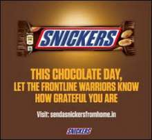 SNICKERS® Celebrates World Chocolate Day By Expressing Gratitude To The Frontline Workers