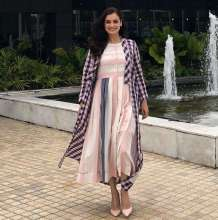 Actress Dia Mirza in Tahweave - a sustainable label for an event in Bangkok
